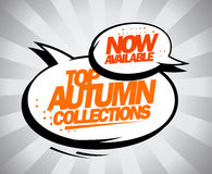 Now available Top autumn collections. Stock Image