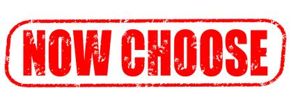 Now choose red stamp. On white background Stock Photos