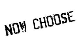 Now Choose rubber stamp Royalty Free Stock Image