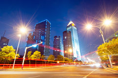 Now the city at night Royalty Free Stock Photography
