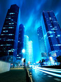 Now the city at night Royalty Free Stock Image