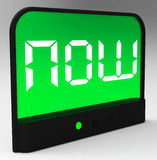 Now Clock Showing Quick Urgency For Action Royalty Free Stock Images