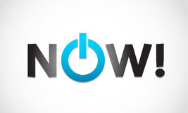 Now! concept Royalty Free Stock Images