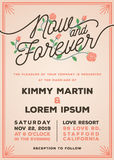 Now and Forever Wedding Invitation Template. Royalty Free Stock Image
