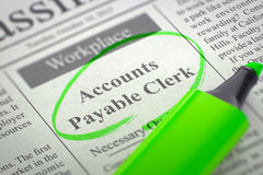 Now Hiring Accounts Payable Clerk. 3D Stock Photography