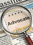 Now Hiring Advocate. 3D. Stock Photos