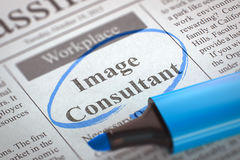 Now Hiring Image Consultant. 3D. Royalty Free Stock Photography