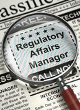 Now Hiring Regulatory Affairs Manager. 3D. Stock Photography