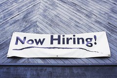 Now hiring sign Royalty Free Stock Image