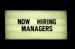 Now hiring sign. Or marquise Royalty Free Stock Images