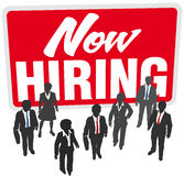 Now Hiring sign join business work team Stock Photos