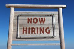 Now hiring sign Stock Image