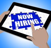 Now Hiring Tablet Means Job Vacancy And Recruitment. Now Hiring Tablet Meaning Job Vacancy And Recruitment Stock Image