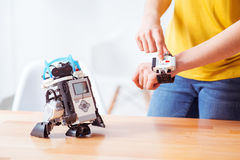 Now I can play with my robot Stock Photos