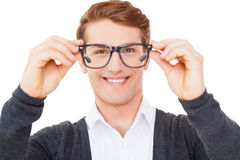 Now I can see you well. Stock Photos