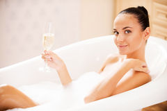 Now I feel relaxed. Royalty Free Stock Image