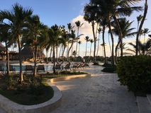 Now Larimar resort in Punta Cana. Dominican. royalty free stock photos
