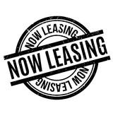 Now Leasing rubber stamp Stock Photo