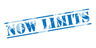 Now limits blue stamp Royalty Free Stock Image