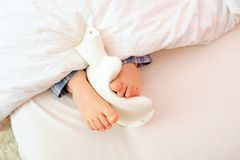 Now my feet are warm Royalty Free Stock Images
