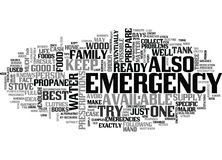 It Is Now Or Never Prepare For A Home Emergency Word Cloud Concept. It Is Now Or Never Prepare For A Home Emergency Text Background Word Cloud Concept Stock Images