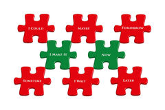 Now new beginning, 3D jigsaw puzzle Stock Photo