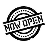 Now Open rubber stamp Stock Photos
