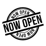 Now Open rubber stamp Royalty Free Stock Photos
