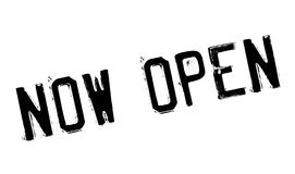 Now Open rubber stamp Royalty Free Stock Photography