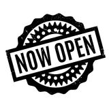 Now Open rubber stamp Stock Photography