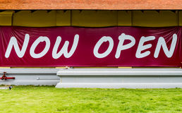 Now open sign Royalty Free Stock Photography