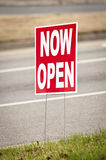 NOW OPEN Sign Royalty Free Stock Images