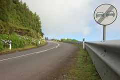 Now passing in Azores Royalty Free Stock Photography