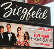 Now Playing at the Ziegfeld Stock Photography
