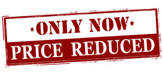 Only now price reduced Stock Photo