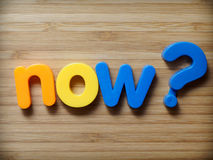 Now question concept Stock Photography