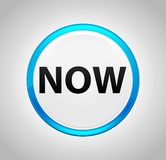 Now Round Blue Push Button stock illustration