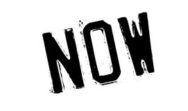 Now rubber stamp Stock Image
