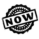 Now rubber stamp Stock Photo
