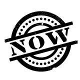 Now rubber stamp Stock Images