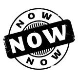 Now rubber stamp Royalty Free Stock Photo