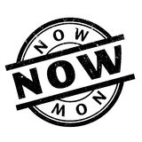 Now rubber stamp Royalty Free Stock Image