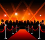 Now showing theater movie banner sign stock illustration