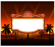 Now showing theater movie banner sign Royalty Free Stock Photography