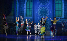 "Now singing, now dancing people- ballet ""One Thousand and One Nights"" Stock Photos"