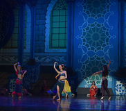 "Now singing, now dancing people- ballet ""One Thousand and One Nights"" Royalty Free Stock Image"