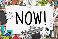Now Start Suddenly Time Management Concept Royalty Free Stock Photography