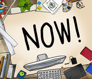Now Start Suddenly Time Management Concept Stock Photography