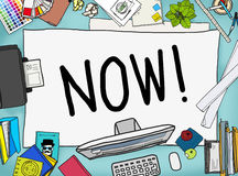 Now Start Suddenly Time Management Concept Stock Images