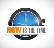 Now is the time watch illustration design Stock Images